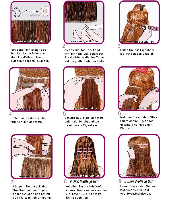 Anleitung Haarverlängerung Skin Weft