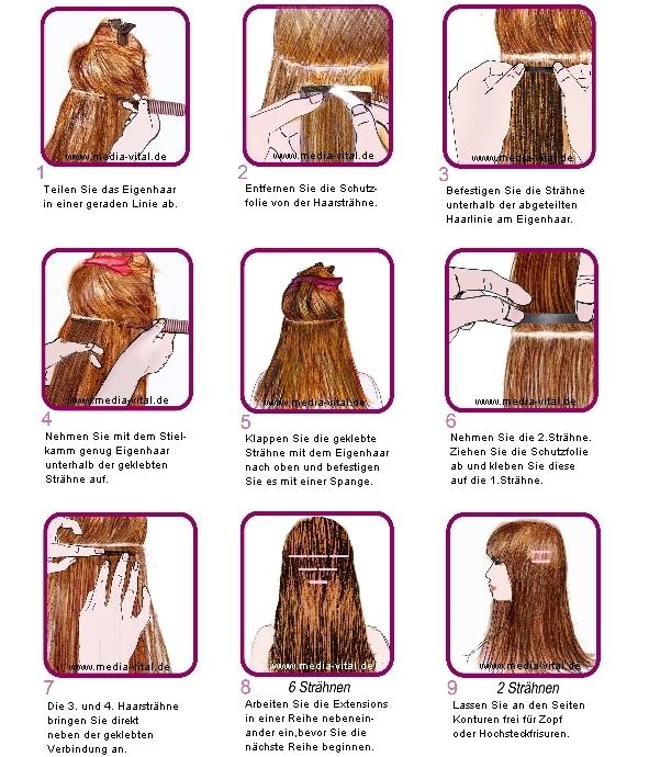 Anleitung Tape Extensions Haarverlängerung