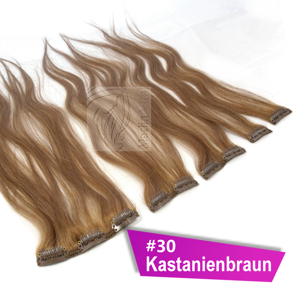clip in extensions 45 g clip on haarteile 45 cm 60 cm indisches remy echthaar ebay. Black Bedroom Furniture Sets. Home Design Ideas