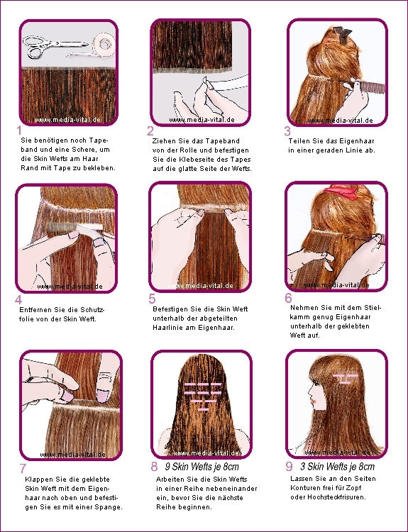 Anleitung Skin Weft Tressen | Haarverlängerung anbringen