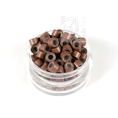 microringe silikon braun f r 0 5g bonding echthaar. Black Bedroom Furniture Sets. Home Design Ideas