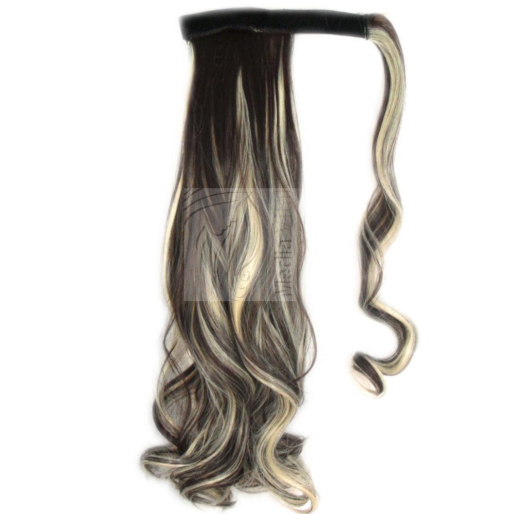 haarteil pferdeschwanz zopf gewellt 30 50 cm clip in extensions haarverl ngerung ebay. Black Bedroom Furniture Sets. Home Design Ideas