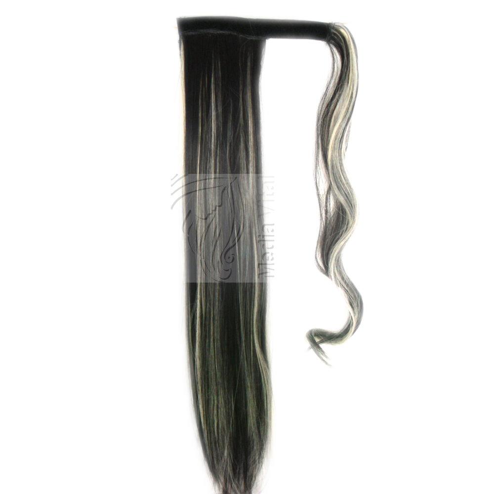 Haarteil-Zopf-Pferdeschwanz-Haarverlaengerung-Haarverdichtung-Extra-Lang-Kurz