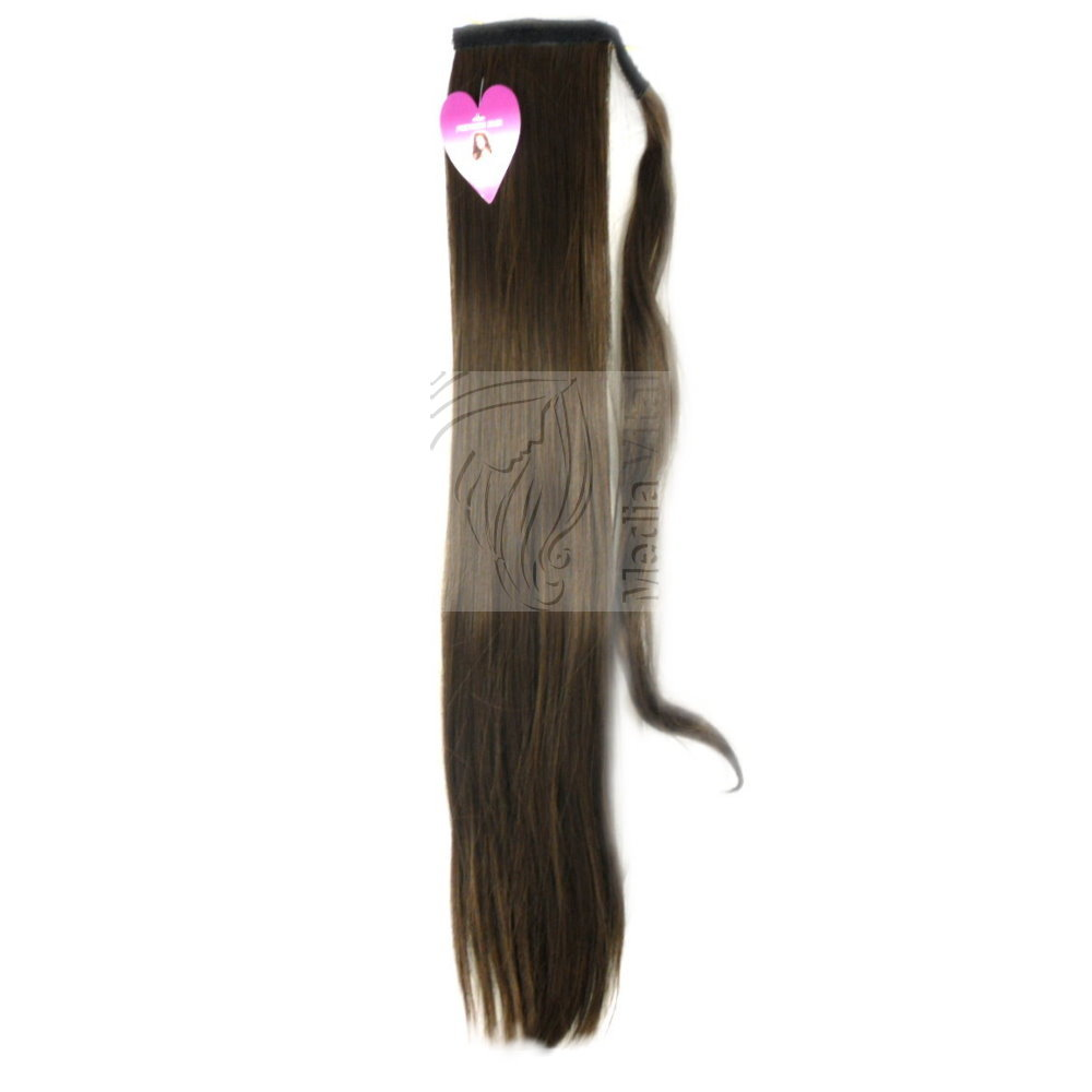 Haarverlaengerung-Zopf-Pferdeschwanz-Haarteil-Haarverdichtung-GLATT-Band-Spange