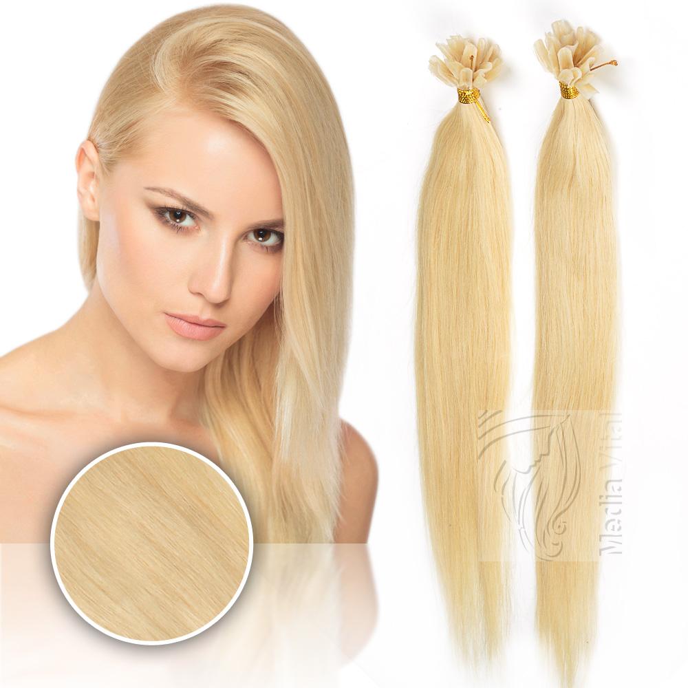 keratin bonding hair extensions 100 remy echthaar str hnen haarverl ngerung ebay. Black Bedroom Furniture Sets. Home Design Ideas