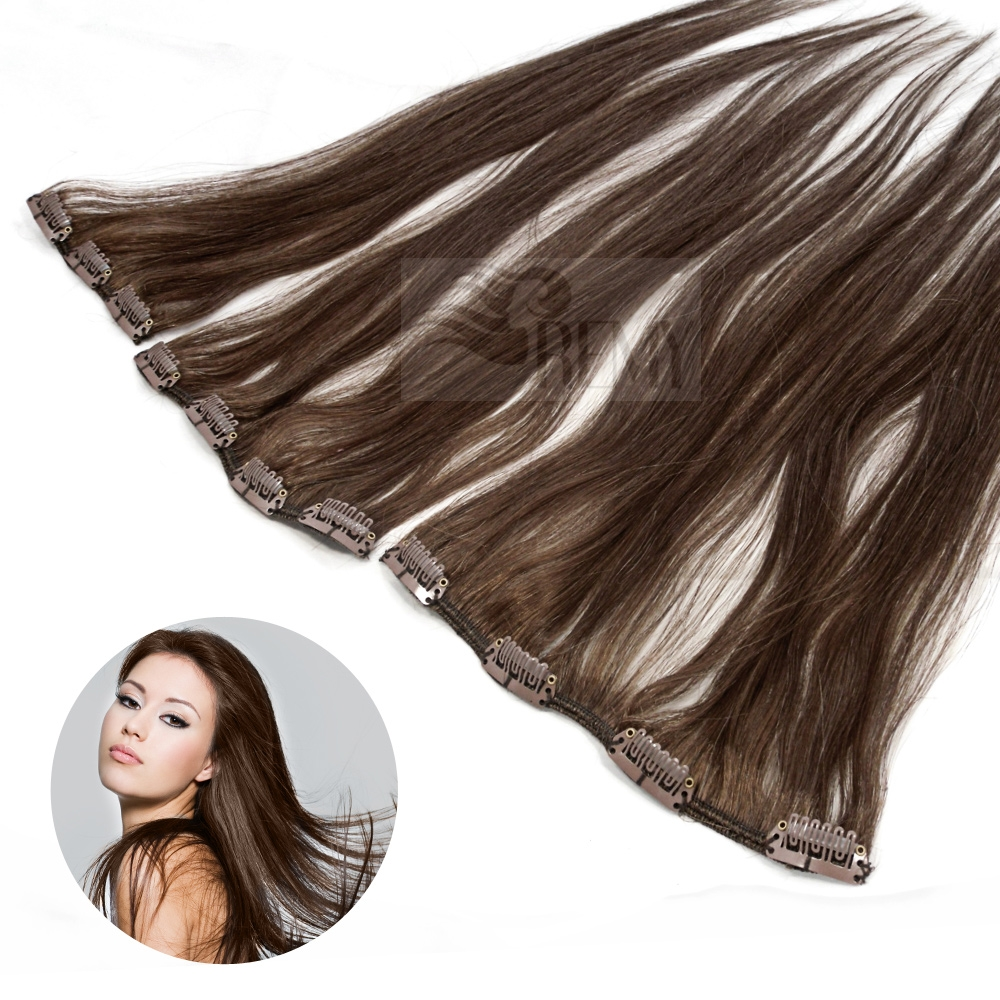 Clip in single haarteil clip in extensions 45 cm haarverl ngerung remy echtha - Extension a froid 70 cm ...