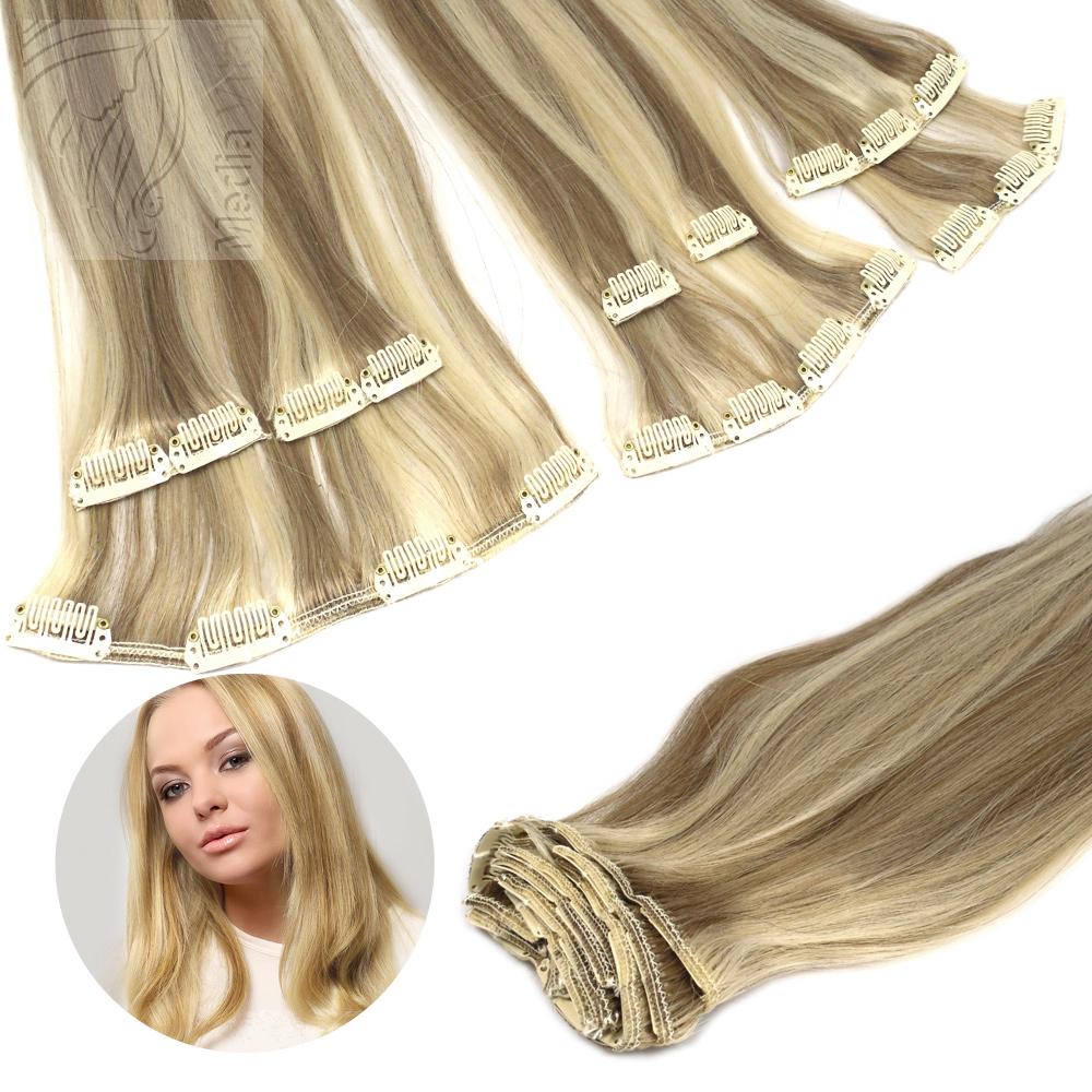 Clip In Extensions 45 g Clip On Haarteile 45 cm 60 cm Indisches Remy Echthaar