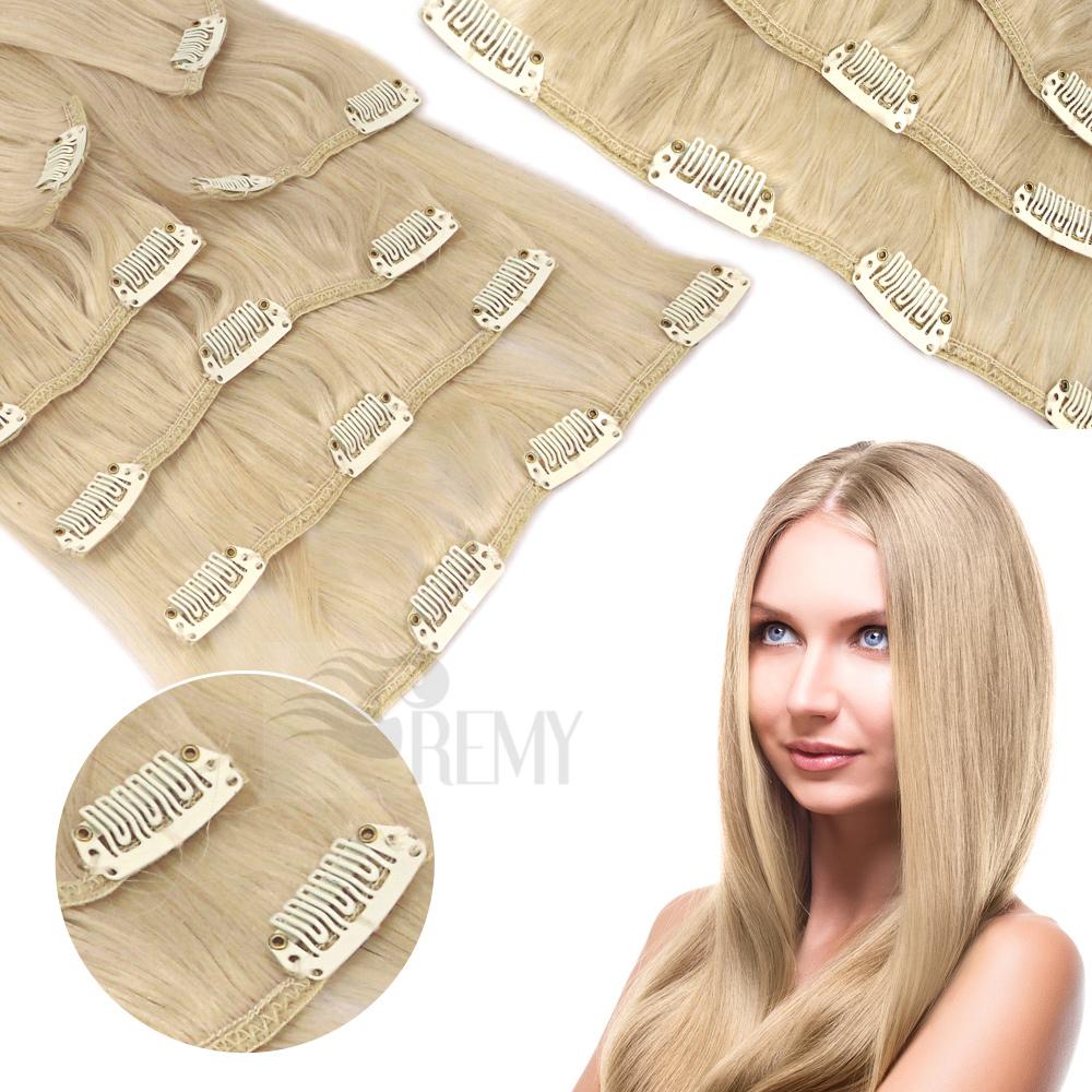 Clip In Extensions Echthaar Tressen Haarteile mit Clips
