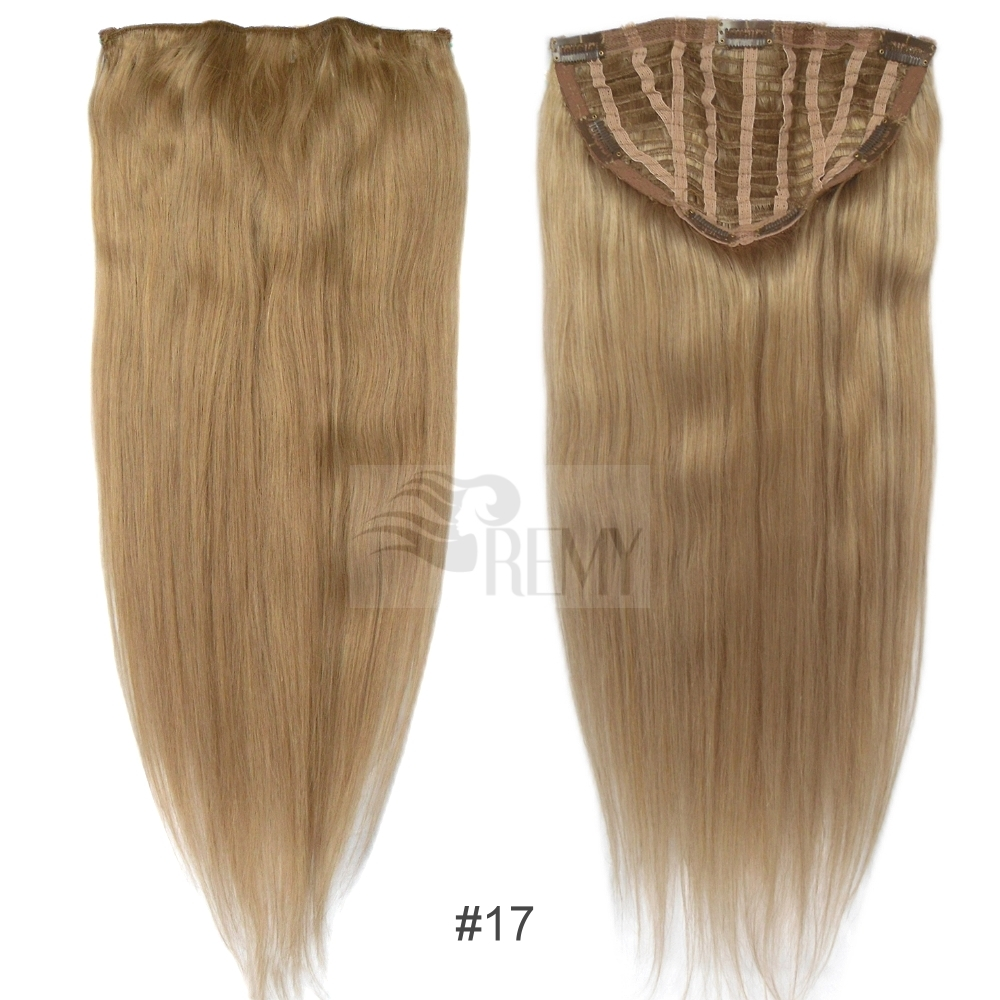 7 clip in extensions haarteil 100g 50 cm echthaar str hnen 10 tressen clips ebay. Black Bedroom Furniture Sets. Home Design Ideas