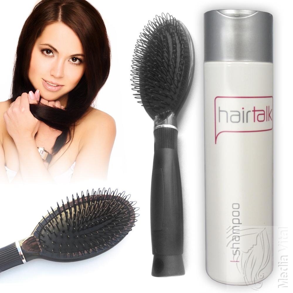 spar set hair extensions haar b rste schwarz hair talk. Black Bedroom Furniture Sets. Home Design Ideas