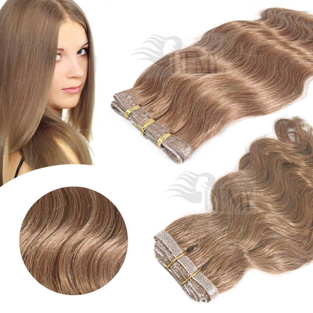 skin weft pu echthaar tressen 30 cm haarverlà ngerung remy hair