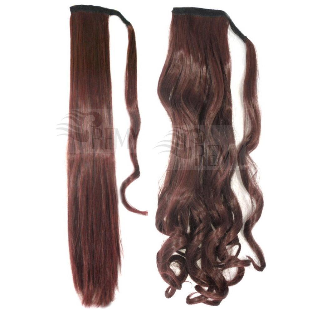 Haarteil-Pferdeschwanz-Zopf-Clip-In-Extensions-Haarverlaengerung-Ponytail-DICK